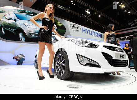 Hyundai i40 a été présenté en première mondiale sur le salon de Genève 2011 à Genève, Suisse, le mardi 1er mars Banque D'Images