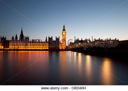 Le Parlement et Big Ben à Londres Banque D'Images