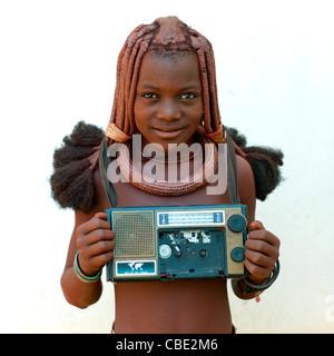 Afrique jeune fille Himba Photo Stock - Alamy