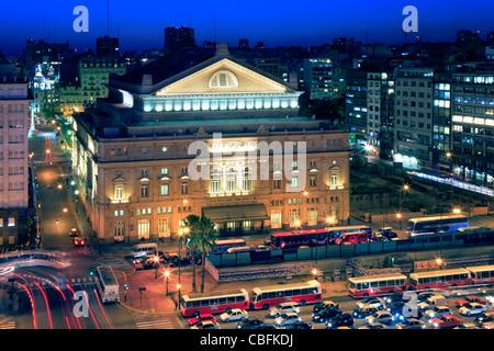 Théâtre Colon, après le bicentenarian la célébration et sa restauration, en 2010. Banque D'Images
