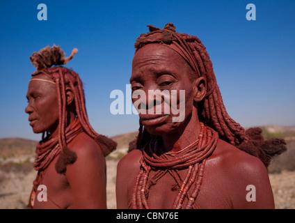 Les femmes Himba, Angola Banque D'Images