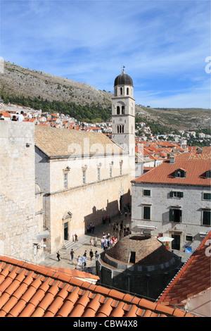 Monastère franciscain et grande fontaine d'Onofrio, Dubrovnik, Dubrovnik-Neretva, Croatie, Balkans, Mer Adriatique, de l'Europe