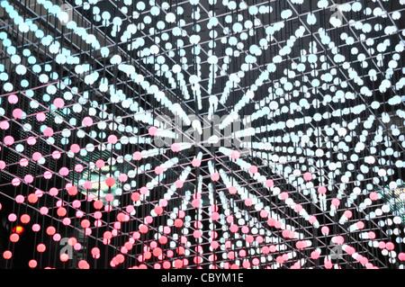 Close up abstract pattern contexte formé de couleur multi technologie de lampe clignotante de l'électricité, à l'exhibition Banque D'Images