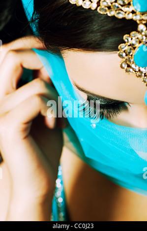 Belle femme indienne Banque D'Images