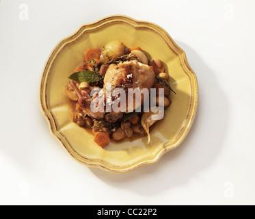 Lapin et champignons Fricasse de cuisson
