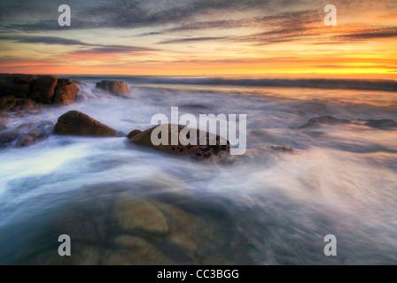 Les plages, parc national de Freycinet, Tasmanie, Australie. Le lever du soleil.