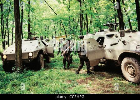 Les véhicules militaires blindés Puma Italie 20e siècle années 1990 Banque D'Images
