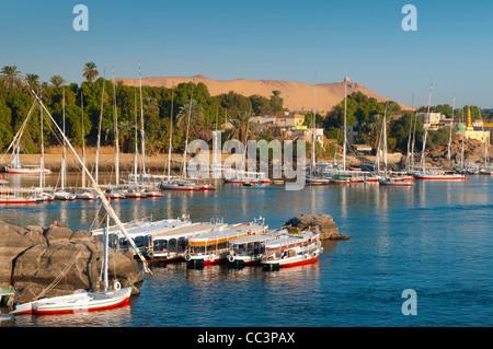 L'Égypte, de la Haute Égypte, Assouan, Nil Banque D'Images