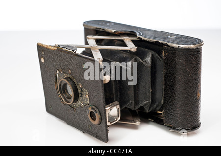 Vest Pocket Kodak Vintage Folding Autographic VP / Horizontal vue avant Banque D'Images