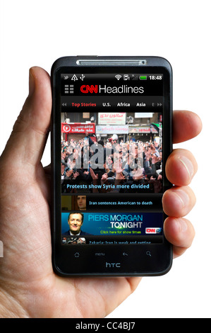 CNN News app sur un smartphone HTC