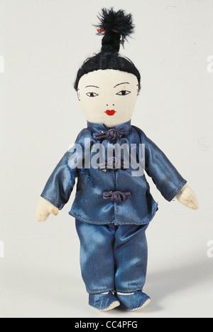 La collecte de jouets du xxe siècle. La Kinésine poupée. 50 ans. Hauteur 33 cm Banque D'Images