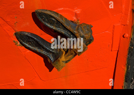 Close up of boat anchor Whitby, North Yorkshire Angleterre Royaume-Uni Royaume-Uni GB Grande Bretagne Banque D'Images