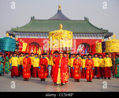 Adorer Le Ciel Cérémonie au Temple du Ciel, Beijing, Chine Banque D'Images