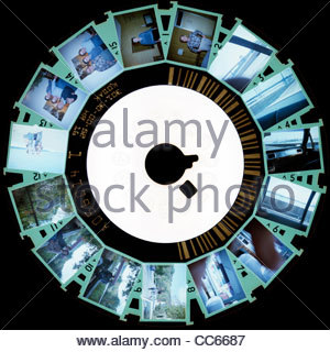 Film Kodacolor Kodak Disc (RH) avec des images négatives (inversée) Banque D'Images