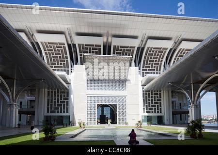 La mosquée Tuanku Mizan Zainal Abidin, Putrajaya, Malaisie Banque D'Images
