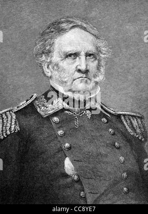 Cette illustration du général Sam Houston (1793-1863) est basé sur une photo de guerre civile nous noté photographe Banque D'Images