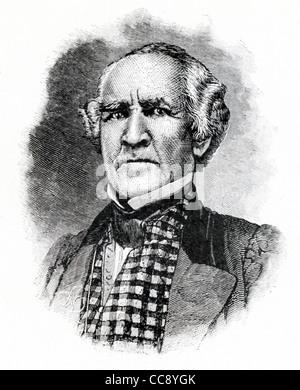 Cette illustration est de général Sam Houston (1793-1863), un héros et un homme d'état frontière du Texas. Banque D'Images