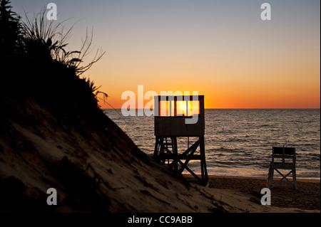 Lever du soleil à Nauset Beach, Orléans, Cape Cod, MA, USA Banque D'Images