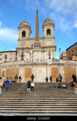 La place d'Espagne (Italien Scalinata di Trinita dei Monti) à Rome, Latium, Italie Banque D'Images