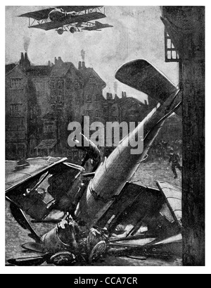 1918 Zeebrugge aviateur allemand Raid tueur de bébés abattu pilote aviateur de la RAF britannique de pilotage de l'armée de l'air détruit crash combat de chiens