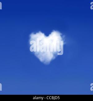 Heartshaped cloud Banque D'Images