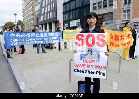 6 octobre 2010 - Bruxelles, BXL, Belgique - Démonstration au cours de la visite du Premier ministre chinois Wen Jiabao au siège de l'UE à Bruxelles, Belgique le 2010-10-06 par Wiktor Dabkowski (crédit Image: © Wiktor Dabkowski/ZUMApress.com)