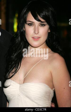 """Apr 25, 2008 - New York, NY, USA - Actrice Rumer Willis au New York premiere de """"de l'intérieur' qui s'est tenue Banque D'Images"""