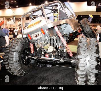 Certaines des nombreuses choses sur l'écran, au cours de la 2008 SEMA Show Las Vegas NV. Nov 6,2008 Photo par Gene Blevins/LA Daily News
