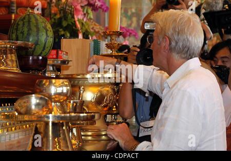 Le 21 juin 2011 - SÉOUL, CORÉE DU SUD - l'Acteur RICHARD GERE visites Temple Jogyesa à Séoul, Corée du Sud. Il est Banque D'Images