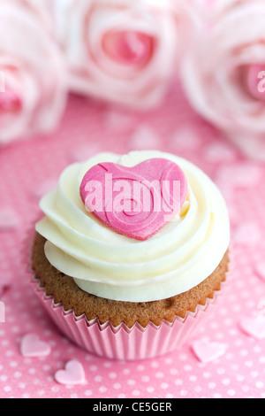 Cupcake Valentin Banque D'Images