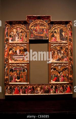 Museo de Bellas Artes, Musée des Beaux-Arts, Bilbao, Espagne, retable des sept joies de la Vierge Marie Banque D'Images