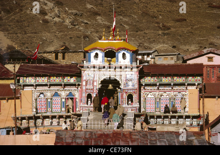 Temple de Badrinath uttaranchal; Inde;