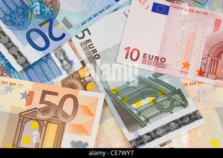 Billets en euros Banque D'Images