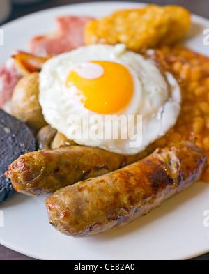 Un petit-déjeuner complet. Banque D'Images