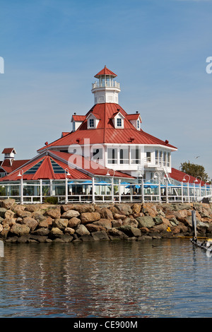 Parkers lighthouse restaurant village littoral Long Beach Californie Banque D'Images
