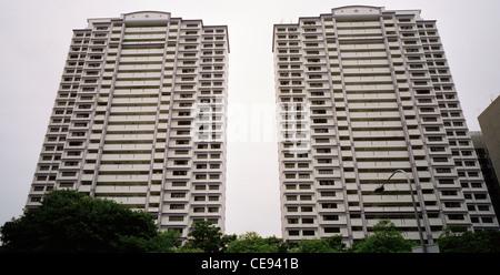 La densité élevée des logements publics à Singapour en Extrême-Orient Asie du sud-est. Architecture Tour gratte Banque D'Images
