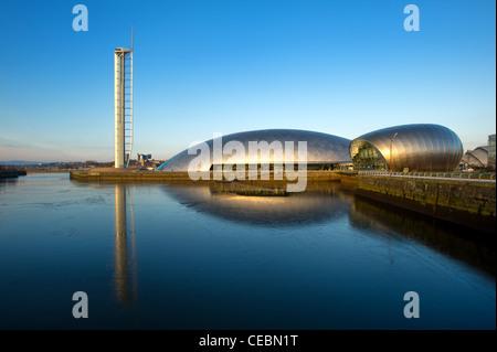 Centre des sciences de Glasgow & Tower, Clyde, Glasgow, Ecosse, Royaume-Uni. Banque D'Images