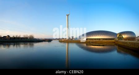 Centre des sciences de Glasgow & Tower, Clyde, Glasgow, Écosse, Royaume-Uni Banque D'Images