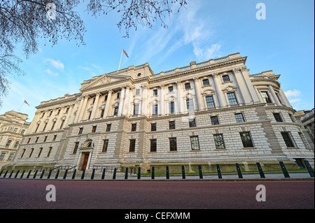 Her Majesty's Treasury Building, des bureaux du gouvernement Great George Street, Westminster, Londres, Angleterre, Banque D'Images