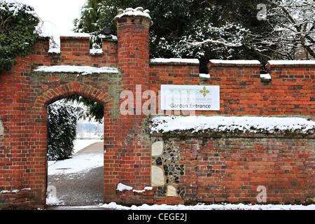 Entrée d'hôtel particulier, le Nonsuch Park, Cheam, Surrey, Angleterre Banque D'Images