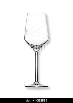Encore un coup de la vie d'un verre de vin sur un fond blanc (n'importe quel fond de couleur disponibles sur demande) Banque D'Images
