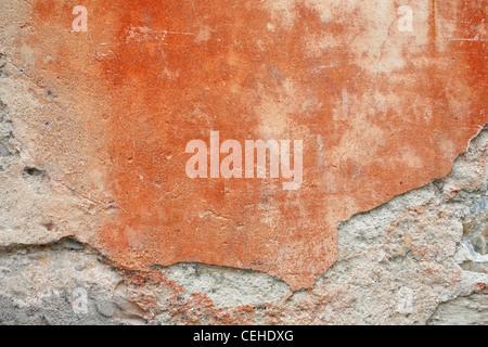 Grungy mur rouge Banque D'Images