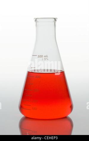 Le verre de laboratoire science lab Banque D'Images