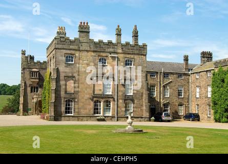 Ripley Castle, datant du 15ème siècle, qui a été le foyer de la famille Ingilby pendant 700 ans. Banque D'Images