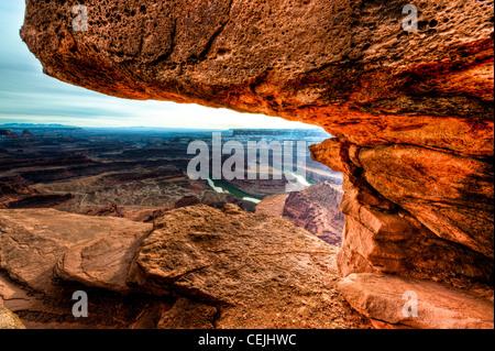 Dead Horse Point State Park est situé entre les Parcs Nationaux de Canyonlands et Arches dans l'Utah. Banque D'Images