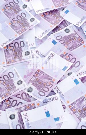 Beaucoup de 500 EURO - vertical shot Banque D'Images