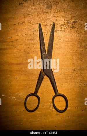 Ancienne paire de ciseaux rouillés Banque D'Images