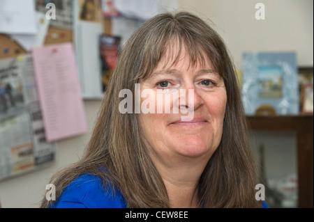 Sue le carême qui ont pris part à l'action des femmes pour la paix désarmement mars à Greenham Common 27 août au Banque D'Images