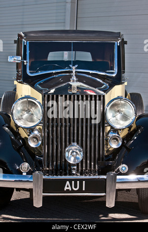 Rolls Royce stationnaire, James Bond classic car Banque D'Images