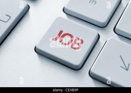Bouton d'emploi sur le clavier. La tonalité de l'image. Banque D'Images